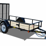 Big Tex model 29SA-10 Utility Trailer No Background