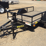 Big Tex model 30SA-8-VTT 5x8 Tilt Bed Utility Trailer RS Front View Not Tilted