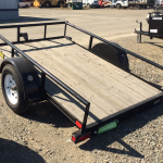Big Tex model 30SA-8-VTT 5x8 Tilt Bed Utility Trailer Tilted View from Back