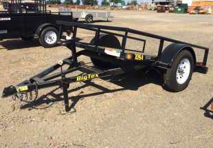 Big Tex model 30SA-8-VTT 5x8 Tilt Bed Utility Trailer RS Tilted View
