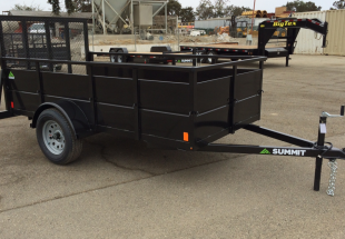 Summit Trailer Cascade 5x10 Landscape Utility Trailer Curbside Front View