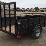 Summit Trailer Cascade 5x10 Landscape Utility Trailer Curbside Rear View