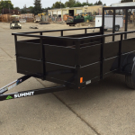 Summit Trailer Cascade 5x10 Landscape Utility Trailer Roadside Front View