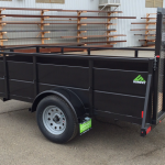 Summit Trailer Cascade 5x10 Landscape Utility Trailer Roadside Rear View