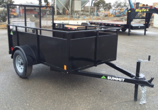 Summit Mfg Alpine 5x8 Landscape Utility Trailer Curbside Front View