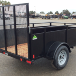 Summit Mfg Alpine 5x8 Landscape Utility Trailer Curbside Rear View