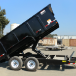 Big Tex 14LX-14 High Sided Dump Tilted Curbside View