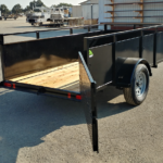 Summit Mfg Alpine 5x10 Landscape Utility Trailer Gate Open Rear View