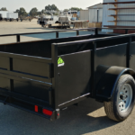 Summit Mfg Alpine 5x10 Landscape Utility Trailer Curbside Rear View