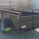 Summit Mfg Alpine 5x10 Landscape Utility Trailer Roadside Rear View