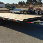 Summit 10K 8.5x20 Over Axle Trailer Front Curbside View