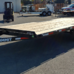Summit 10K 8.5x20 Over Axle Trailer Front Roadside View
