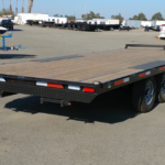 Summit 10K 8.5x20 Over Axle Trailer Rear Curbside View