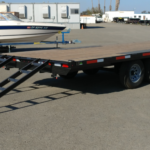 Summit 10K 8.5x20 Over Axle Trailer Rear Curbside Ramps Out View