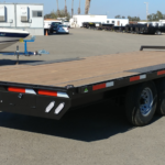 Summit 14K 8.5x20 Over Axle Trailer Rear Curbside View