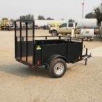 Summit Mfg Alpine 4x6 Landscape Utility Trailer Rear Curbside View