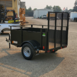 Summit Mfg Alpine 4x6 Landscape Utility Trailer Rear Roadside View