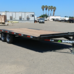 Summit 10OA-20-CAS-SPMT-DT-SRAMPS 10K tandem, over axle trailer with slide out ramps, front rub rail and radial tires front cs view