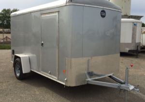 Wells Cargo Road Force 6x12 Cargo Trailer Rear Ramp Door Front Curbside View
