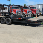 Summit Trailers 14TL-20-DEN-GRY front CS tilted view