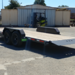 Summit Trailers 14TL-20-DEN-GRY rear RS view