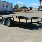 Summit Trailers 60LA-14-ALP-RG front CS view with rear ramp down